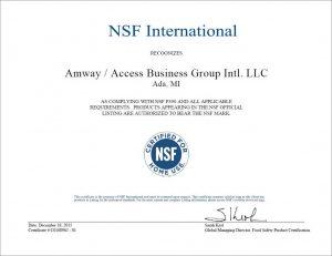 iCook NSF certifikát