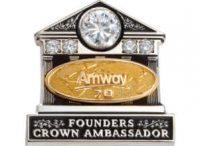 Amway Founders Crown Ambassador 70 Pin