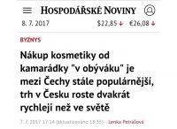 Hospodářské noviny (ihned.cz) o přímém prodeji